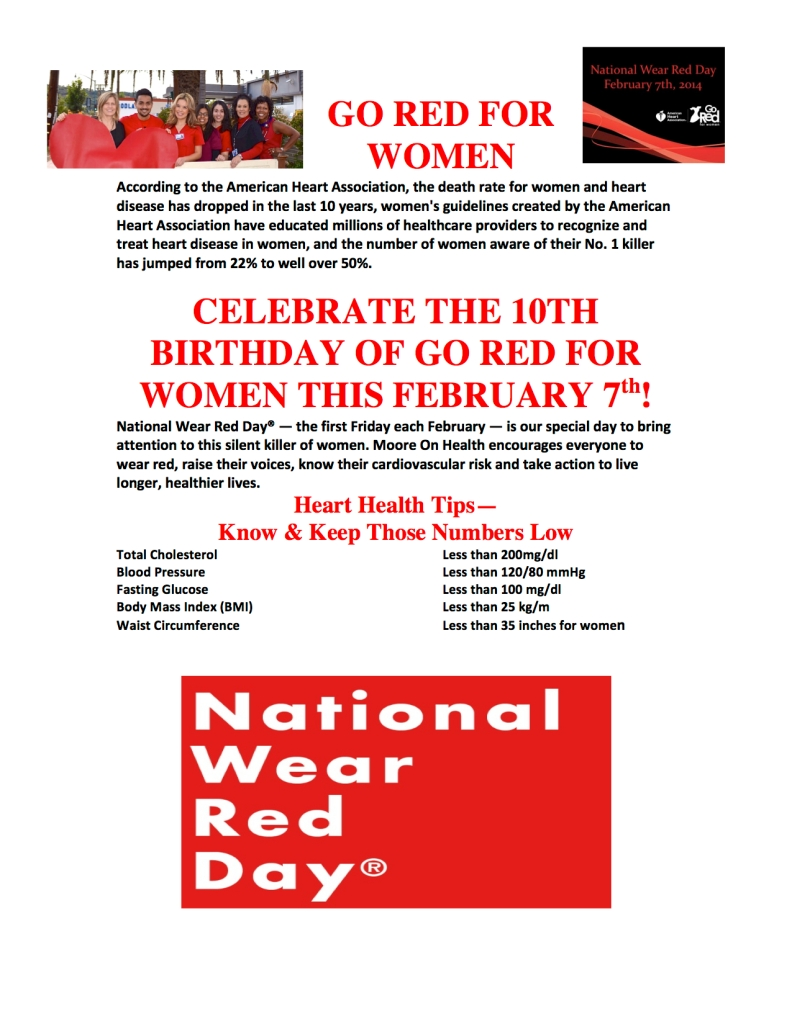 GO RED FOR WOMEN 2014
