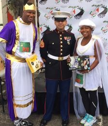 The Holly Jolly 10K donation to the Marine Toys for Tots.