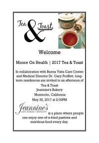 Tea & Toast Flyer Second Version